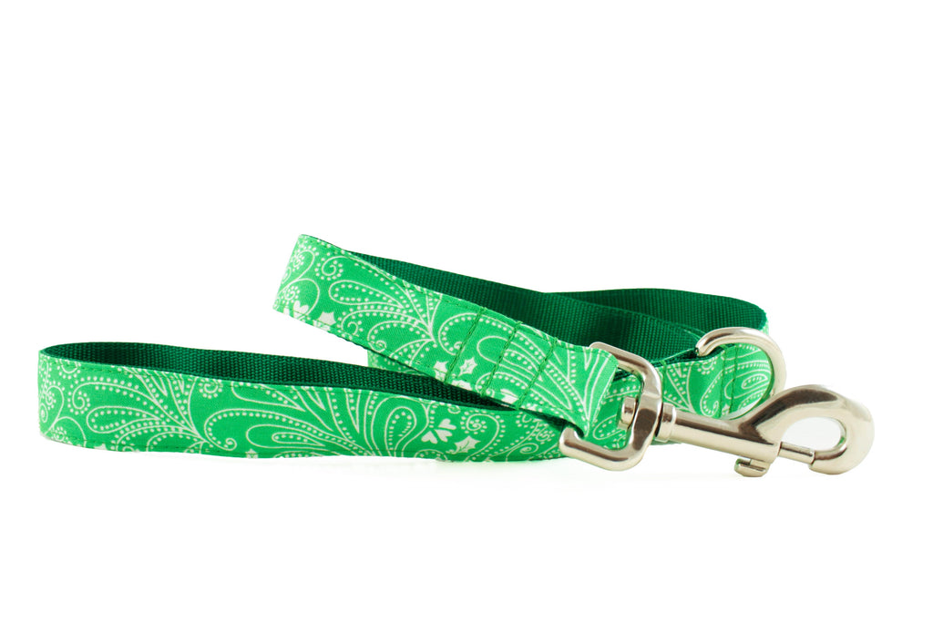 Green Paisley Leash - final sale