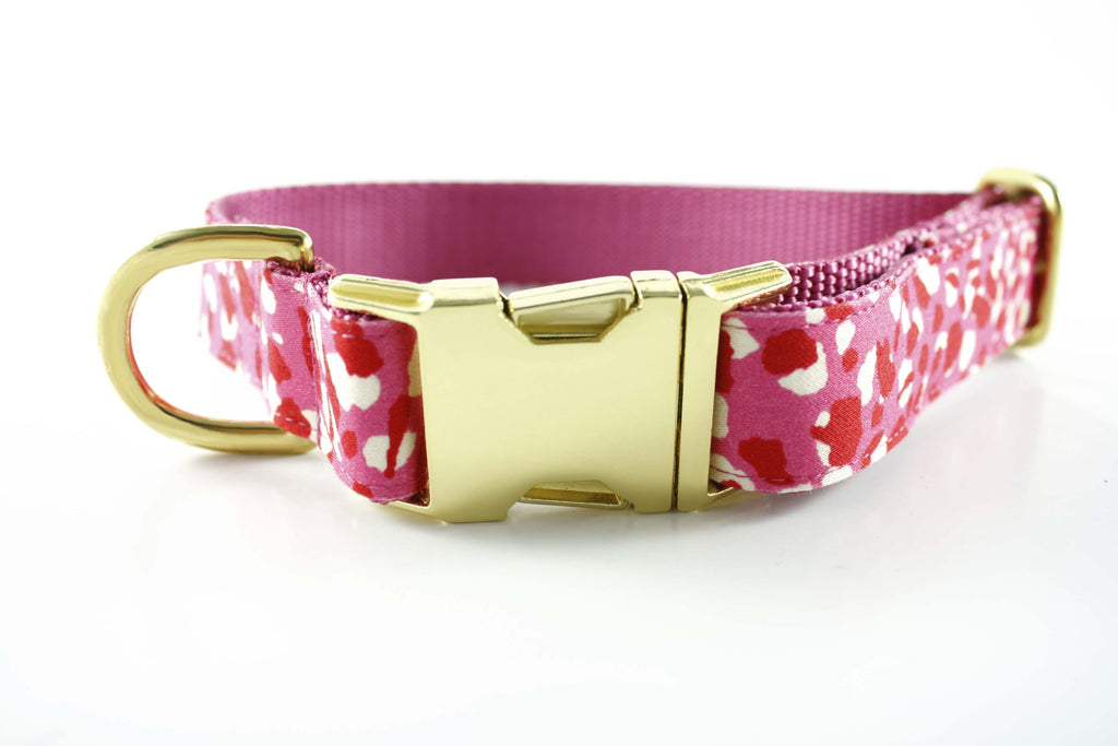 Hot Pink Cheetah Collar