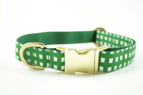 Kelly Green Geometric Collar