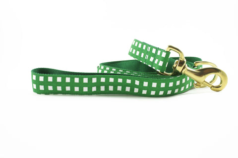 Kelly Green Geometric Leash