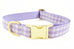Lavender Gingham Collar
