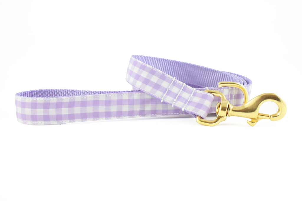Lavender Gingham Leash - final sale