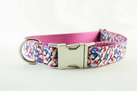 Pink Kaleidoscope Collar