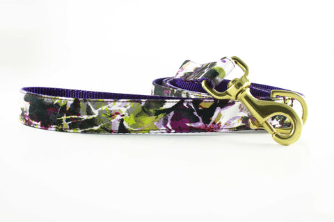 Violet Painted Floral Leash