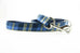 Blue and Gold Plaid Leash
