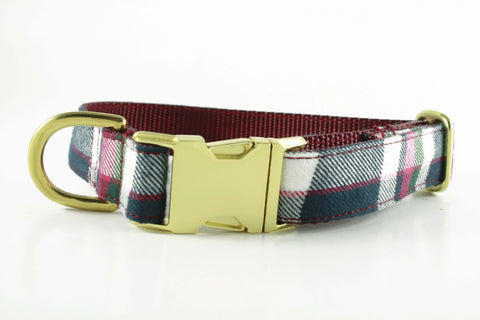Cranberry Plaid Collar