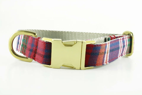 Tartan Red Plaid Collar