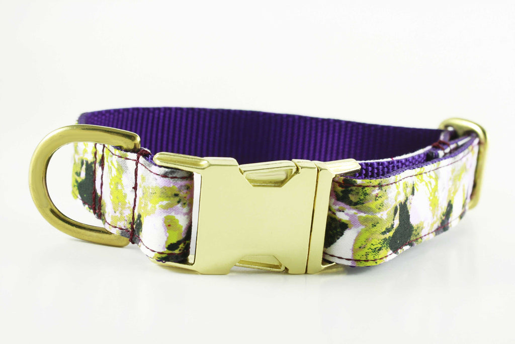 Violet Painted Floral Collar