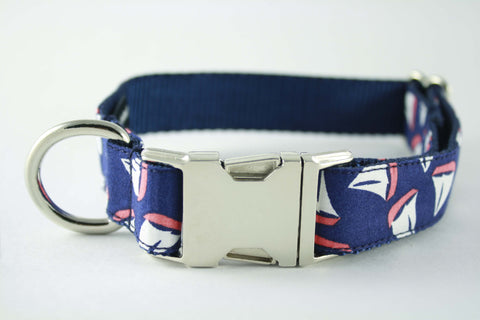 Navy Sailboat Collar in Navy - FINAL SALE