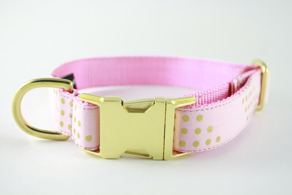 Cotton Candy Gold Glitter Collar