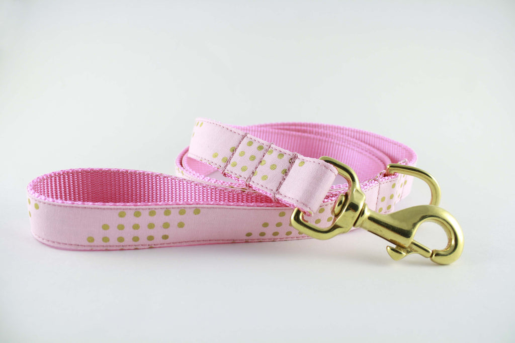 Cotton Candy Gold Glitter Leash