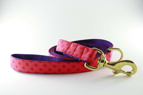Strawberry Red Polka Dot Leash