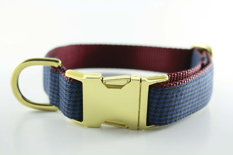 Navy Houndstooth Collar - FINAL SALE