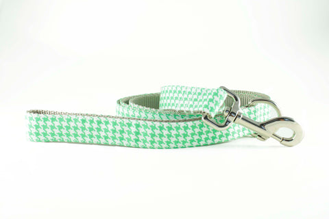 Neon Green Houndstooth Leash