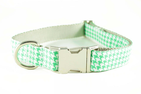 Neon Green Houndstooth Collar
