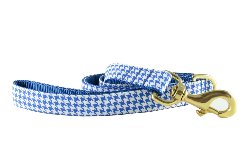 Royal Blue Houndstooth Leash