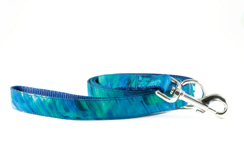 Electric Blue Canvas Leash