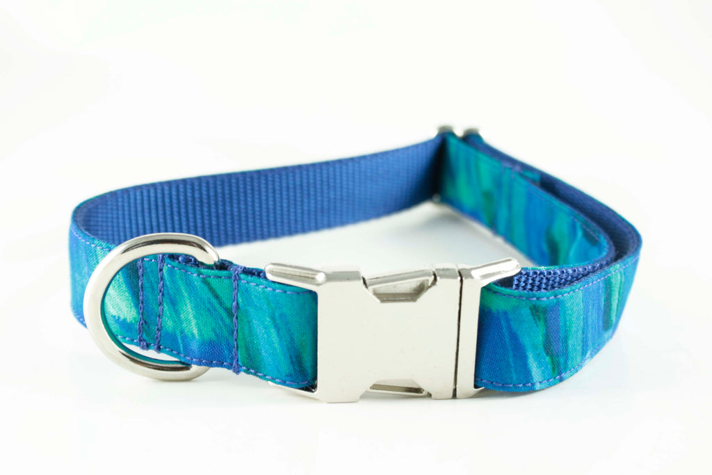 Electric Blue Canvas Collar
