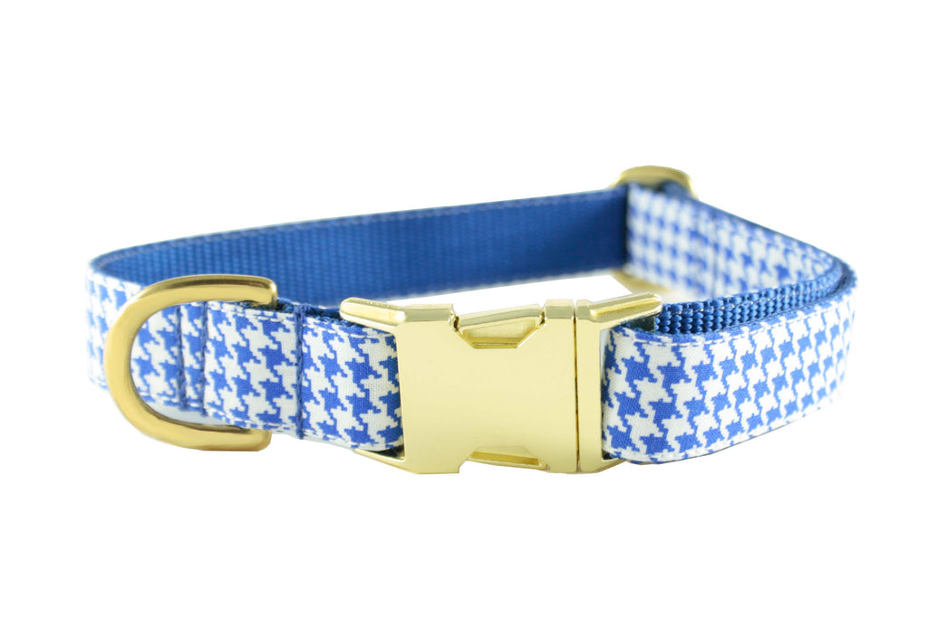 Royal Blue Houndstooth Collar