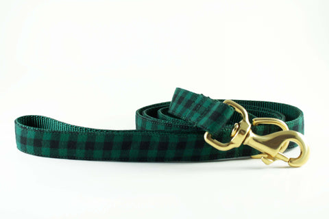 Hunter Green Plaid Leash