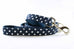Navy Polka Dot Leash