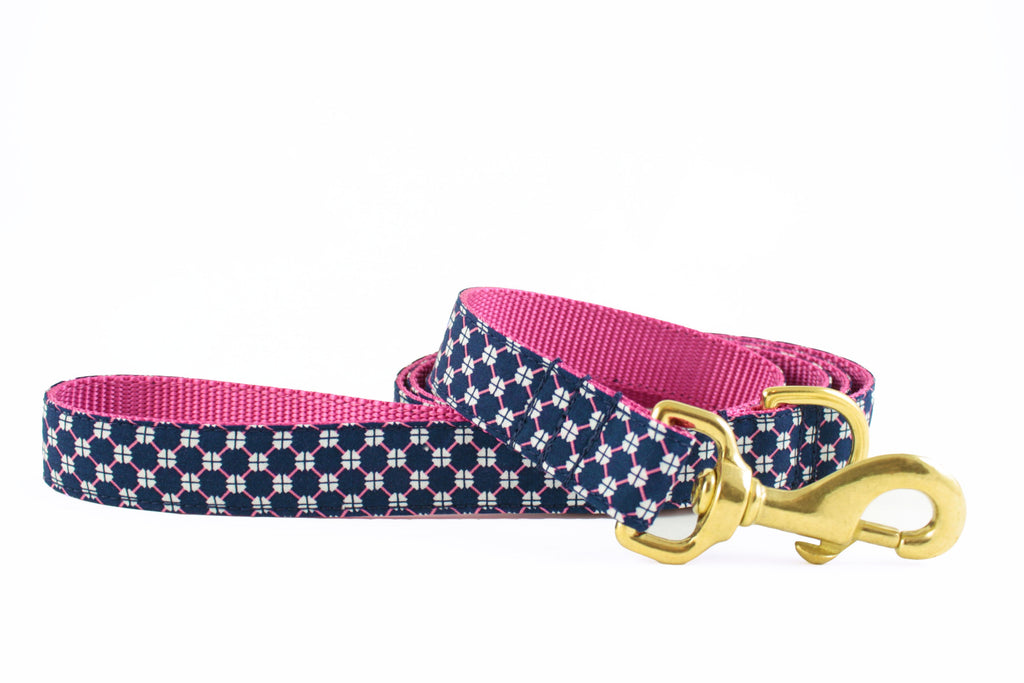 Navy and Pink Honeycomb Leash
