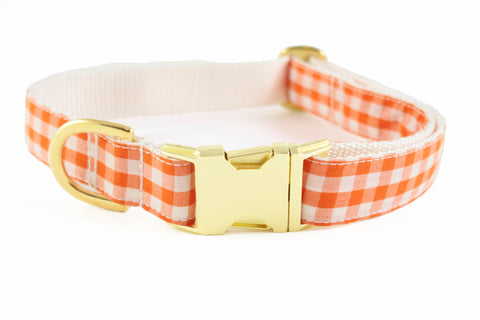 Orange Gingham Collar