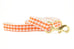 Orange Gingham Leash