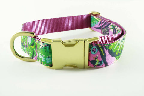 Pink and Green Paisley Collar