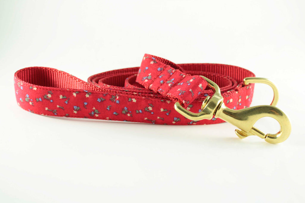 Poppy Red Flowers Leash