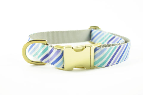 Purple and Blue Stripe Collar