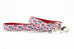 Red White and Blue Flowers Leash