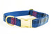 Royal Blue and Red Plaid Collar