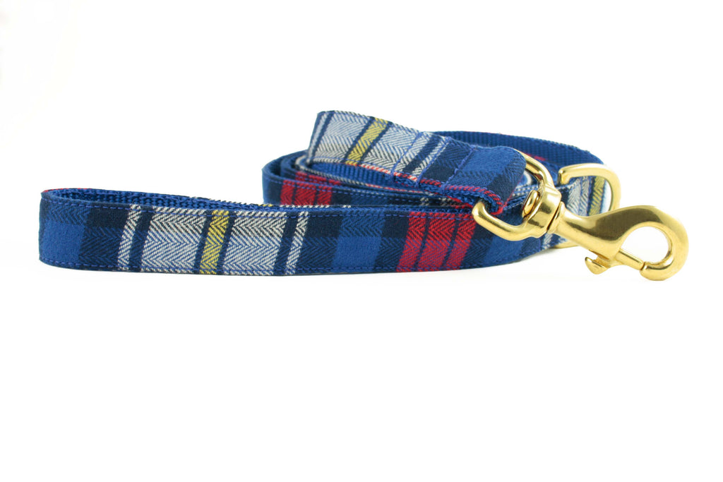 Royal Blue and Red Plaid Leash