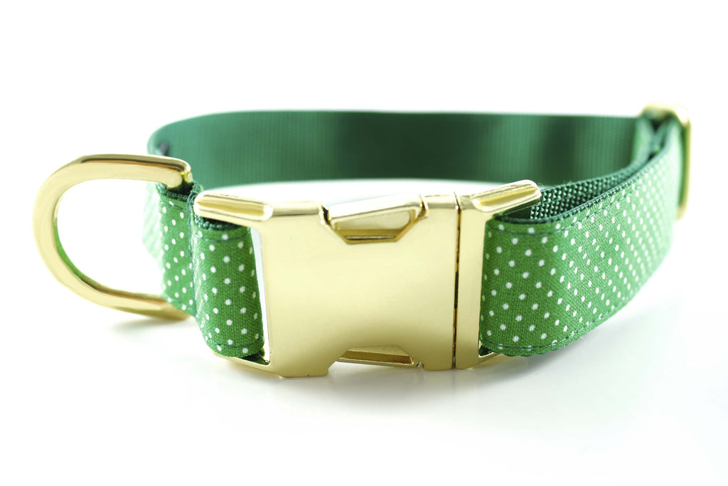 Summer Green Polka Dot Collar
