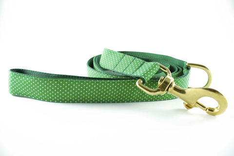 Summer Green Polka Dot Leash