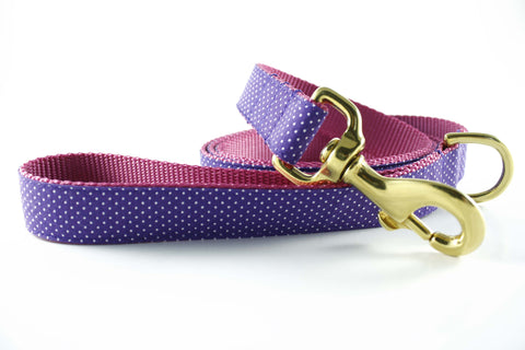 Violet Polka Dot in Pink Leash