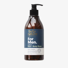 For Men. 2-in-1 Hair + Body Wash