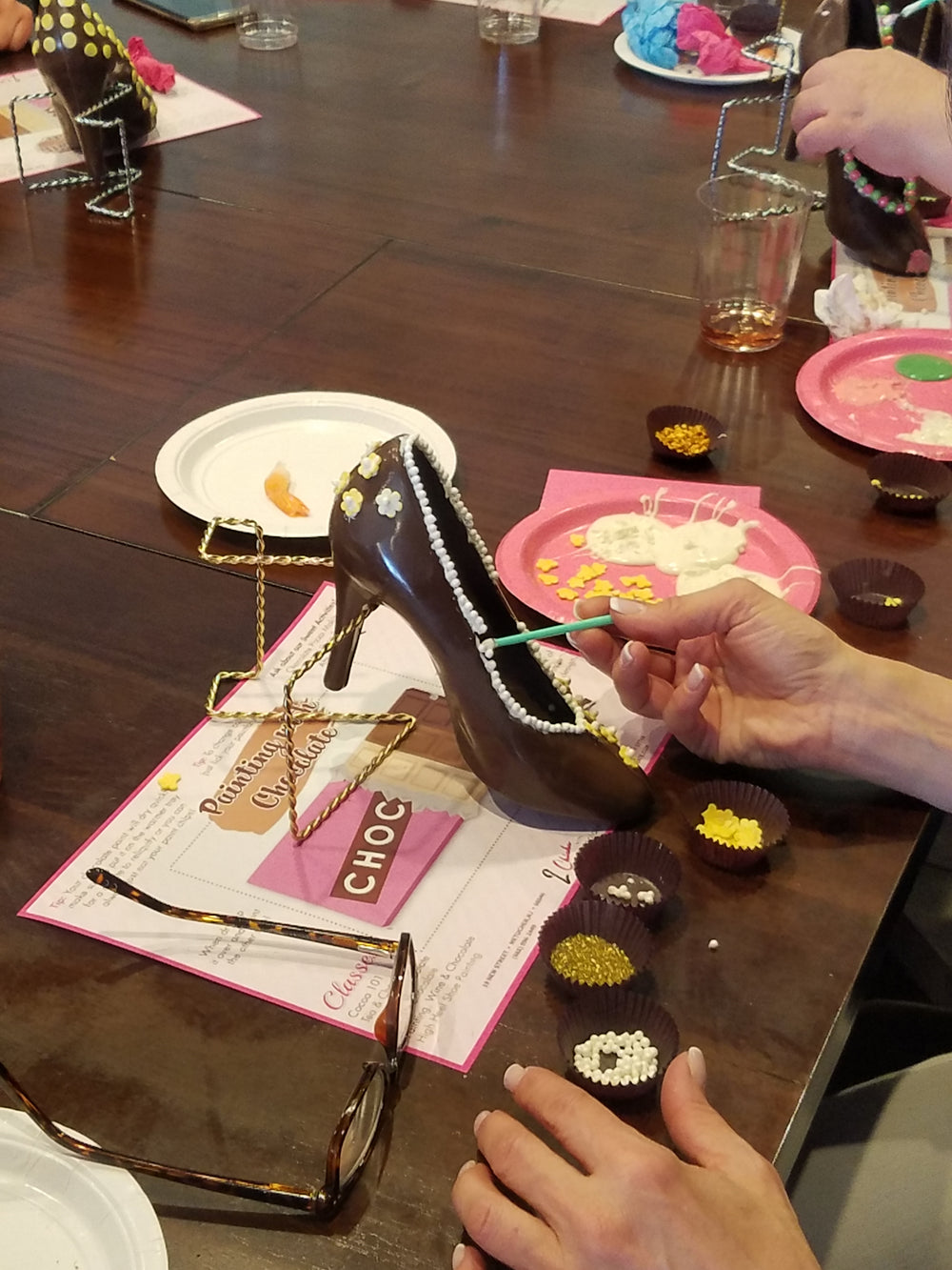 High Heel Painting Activity - 2 Chicks with Chocolate