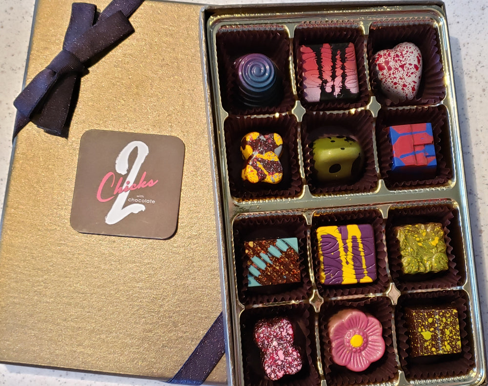Artisanal Chocolate Truffles gift box 12 pieces