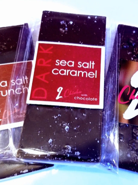 Sea Salt Caramel Milk or Dark Chocolate Bar