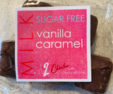 SUGAR FREE: Milk Chocolate Covered Vanilla Caramels