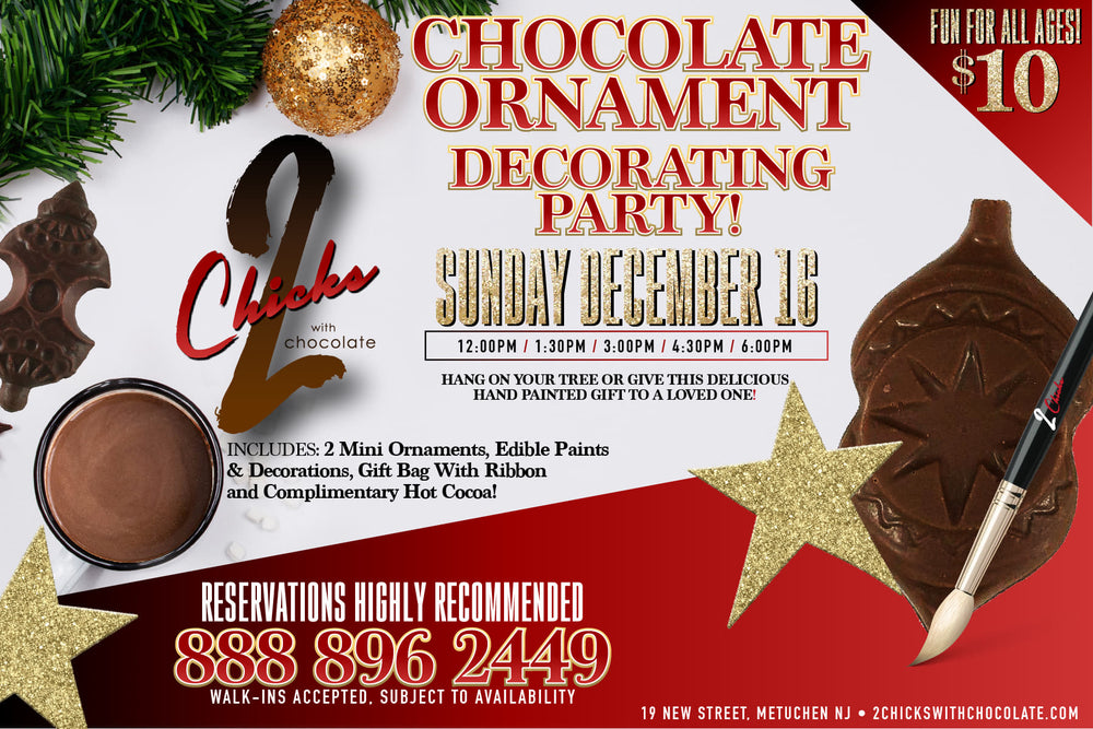 NEW!! Chocolate Ornament Decorating Event