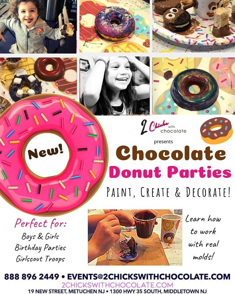 NEW! Create & Paint Chocolate Donut Parties!