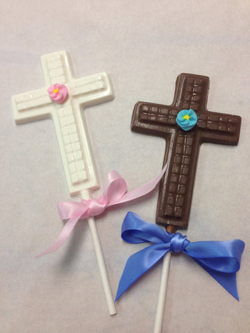 Cross Chocolate Lollipops
