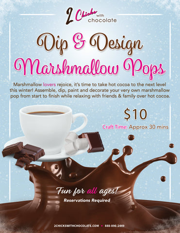 Dip & Design Marshmallow Pops