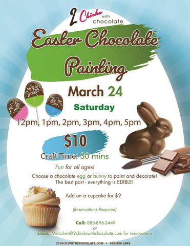Easter Chocolate Painting