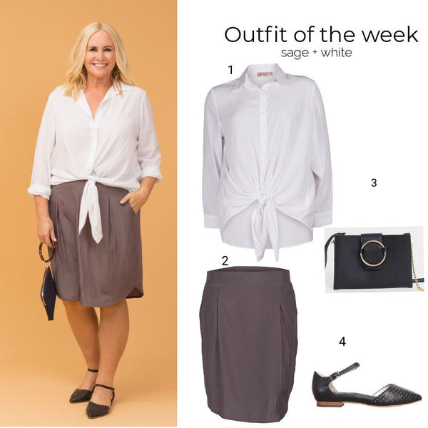 Outfit of the week: sage + white