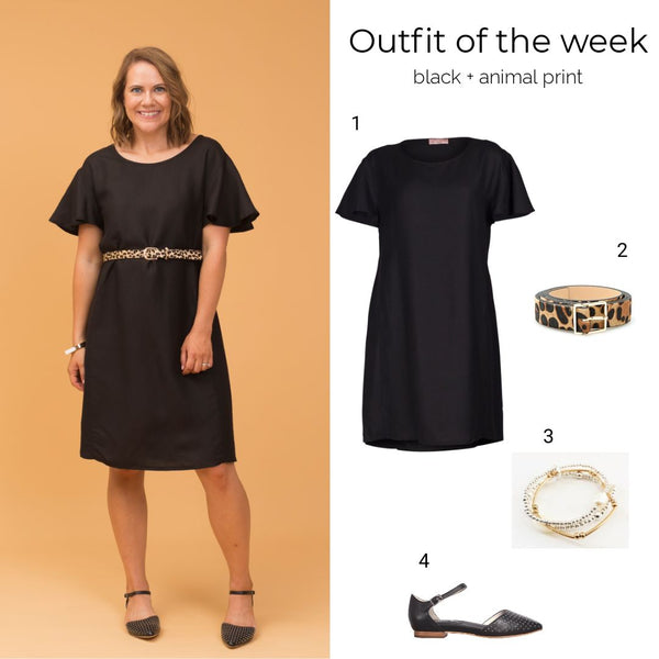 Outfit of the week: black and leopard