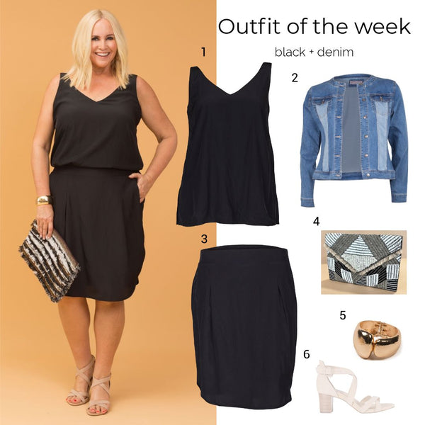 Outfit of the week: black + denim